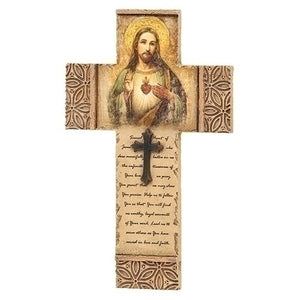 SACRED HEART SAINT WALL CROSS