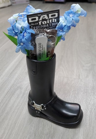 Motorcycle Boot Vase