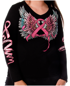 Breast Cancer Wing Tee