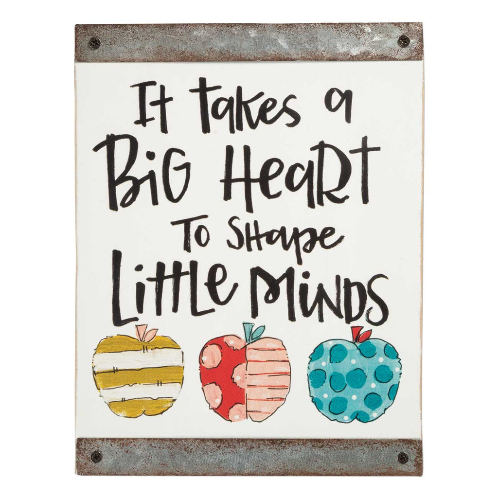Big Heart Wood Block Sign