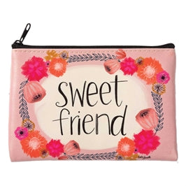 Sweet Friend zippered coin purse