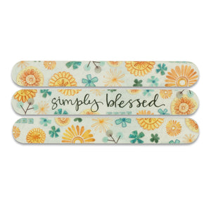 simply blessed Floral Emery Board Set