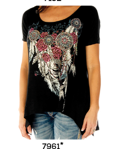 Feathers & Conchos Tee