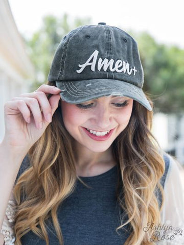 AMEN Distressed Ball Cap