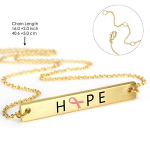 "Breast Cancer ""HOPE"" Necklace"