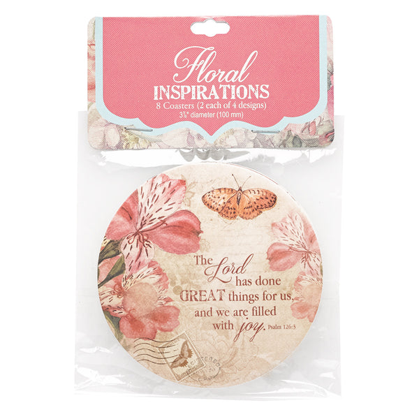Inspirational & Scripture Coasters - 4 different sets