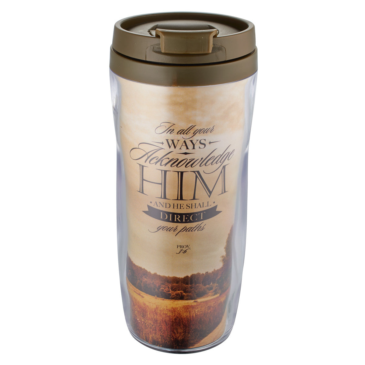 Proverbs 3:6 Polymer Travel Mug