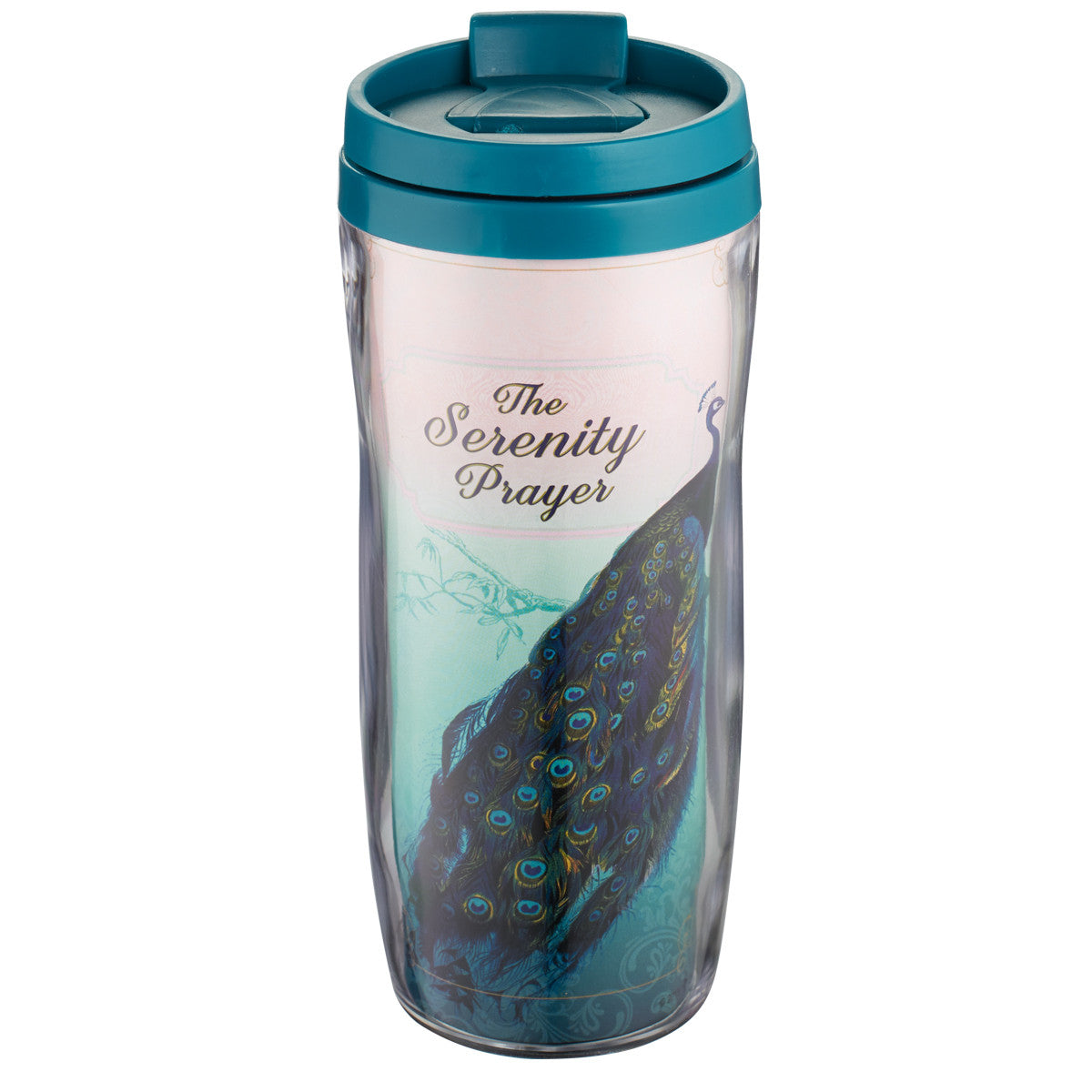 Serenity Prayer (Peacock) Polymer Travel Mug