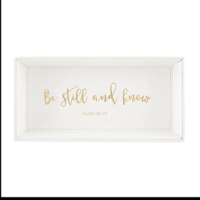 Women's Rectangle Scripture Valet Tray