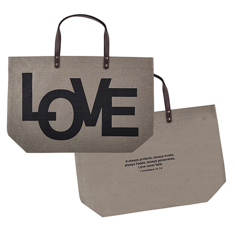 Jute and Suede Leather Inspirational Totes