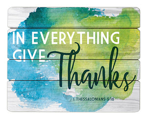 "Give Thanks - 12"" X 15"" Wood Pallet Sign"