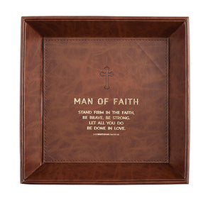 Mens Scripture Saddle Stitched Valet Trays