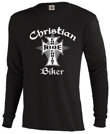 """Christian Biker Ride for Christ"" Tee's in Black and White"