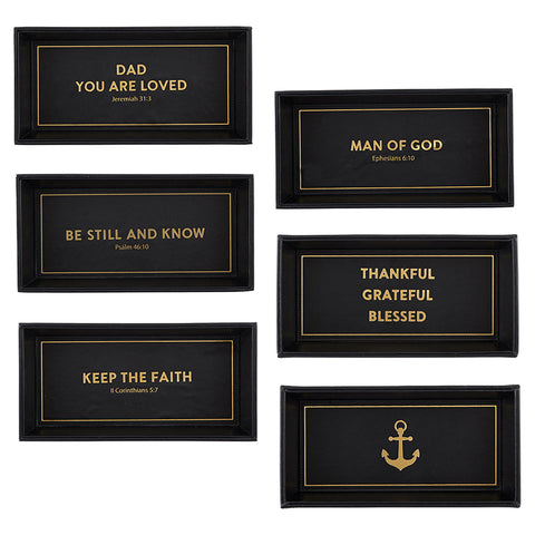 Men's Rectangle Scripture Valet Tray