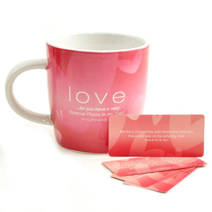 "Beautiful ""Cups of Encouragement"" Cup and Scripture Card Set"