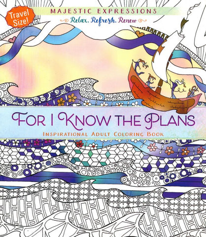 For I Know the Plans - Travel Size Coloring Book