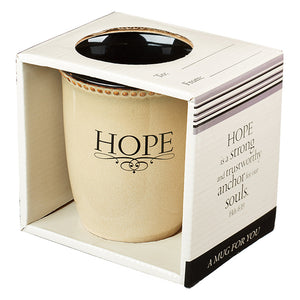 Rustic Inspirational Mugs - Faith, Trust, Be Still & Hope