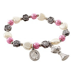 First Communion Blessings Rose Bracelet
