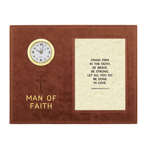 Scripture Framed Table Clock