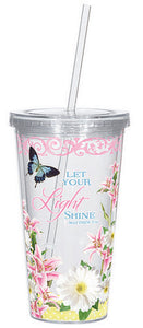 Sunshine Daisies Matthew 5:16 - Large Straw Cup