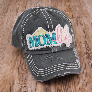 Distressed Mom Life Cap