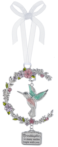 Hummingbird Ornament - Granddaughter