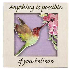 Anything is Possible Mini Plaque