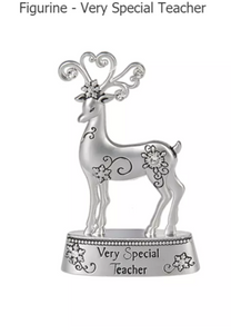 Very Special Teacher Reindeer Figurine