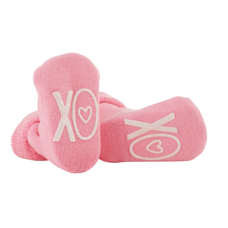 Valentines Day Footie Printed Baby Booties