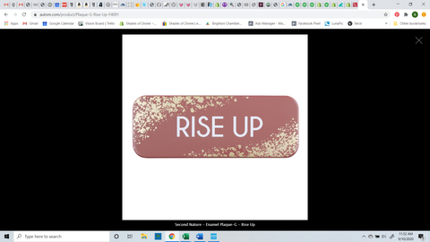 RISE UP Mini Plaque