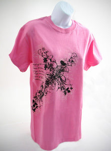 Flower Cross Shirt, Pink