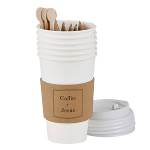 Coffee + Jesus Paper Cup Set of 6