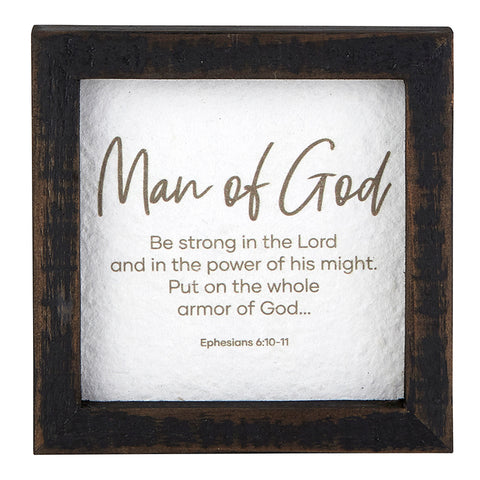 Man of God Tabletop Sign