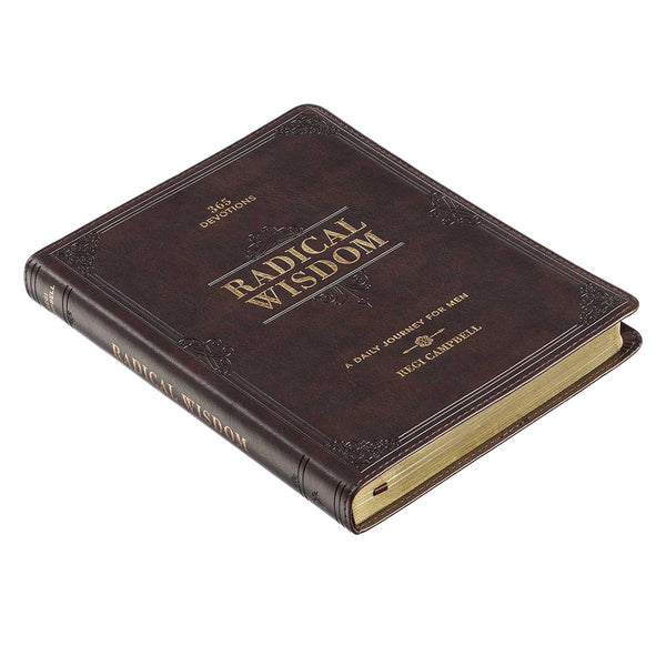 Radical Wisdom Leather Daily Devotional for Men