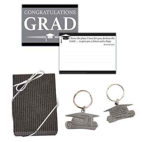 GRADUATION DATED CAP KEY-CHAIN SET