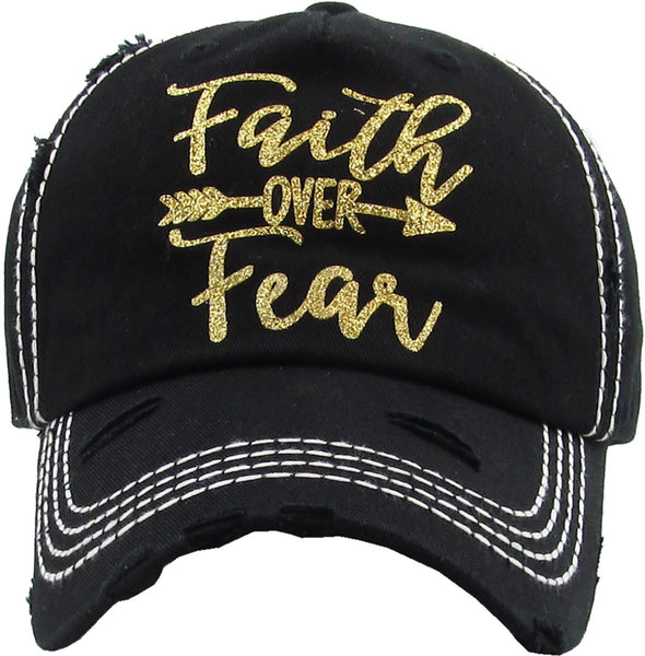 Faith Over Fear - Washed Vintage Ball Cap