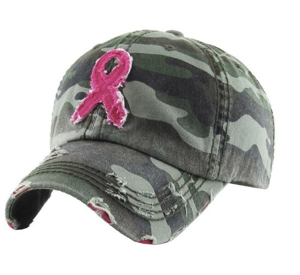 Breast Cancer Ribbon Hats