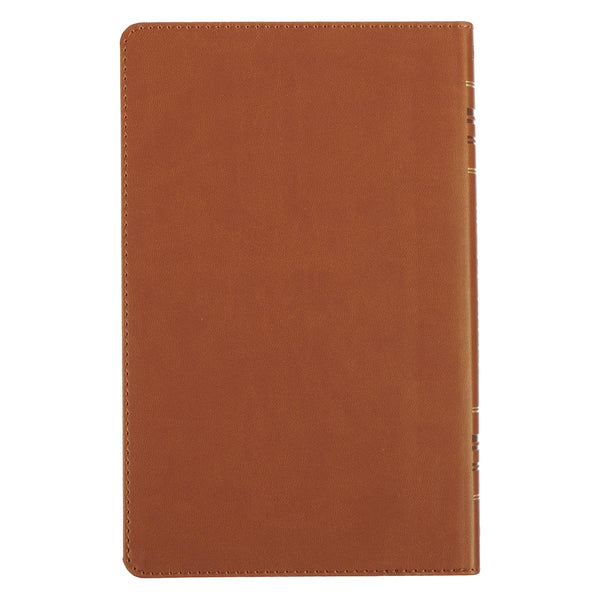 Saddle Tan Faux Leather Gift Edition KJV Bible