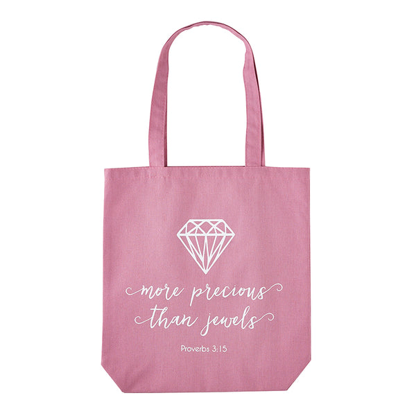 Inspirational Mid-Weight Canvas Tote / Shopping Bags with inside pocket - Assorted Styles