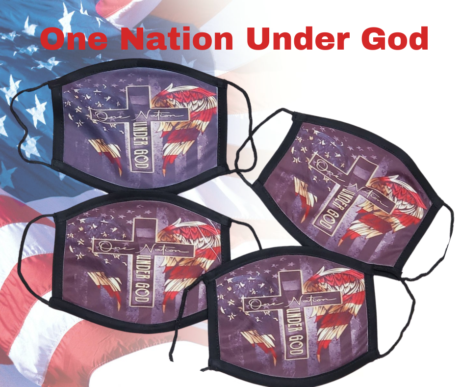 One Nation Under God Face Mask
