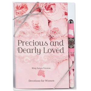 Precious and Dearly Loved KJV Devotion Book & Pen Gift Set
