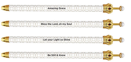 Beautiful Biblical Verse Crown Pens - Various Prints in Singles and Sets