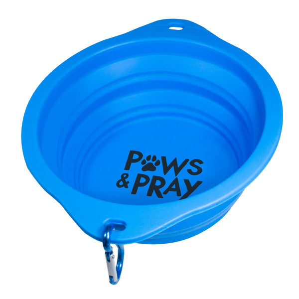 Paws & Pray Pet Collapsible Bowl