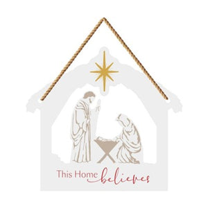 Nativity Hanging Door Sign