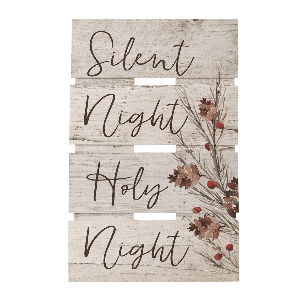 Silent Night Wood Pallet Sign