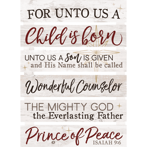 For Unto Us Pallet Wall Hanging