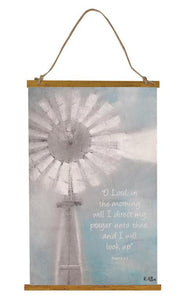 Inspirational Windmill Wall Hanging