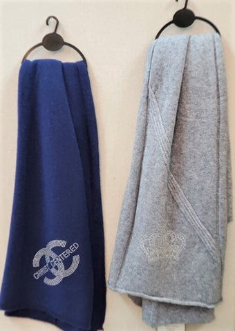 Winter Scarves with Bling Messages