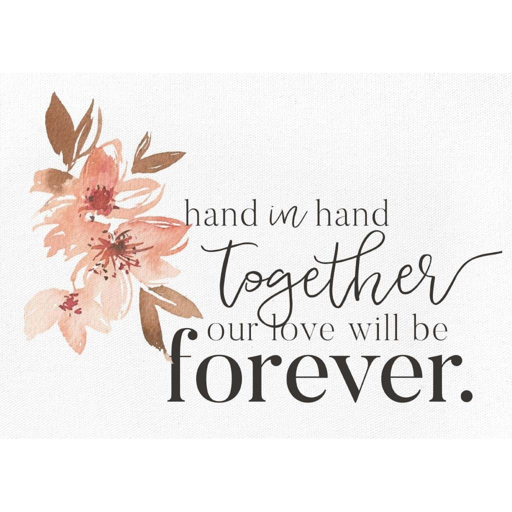 Hand in Hand Together Canvas Sign
