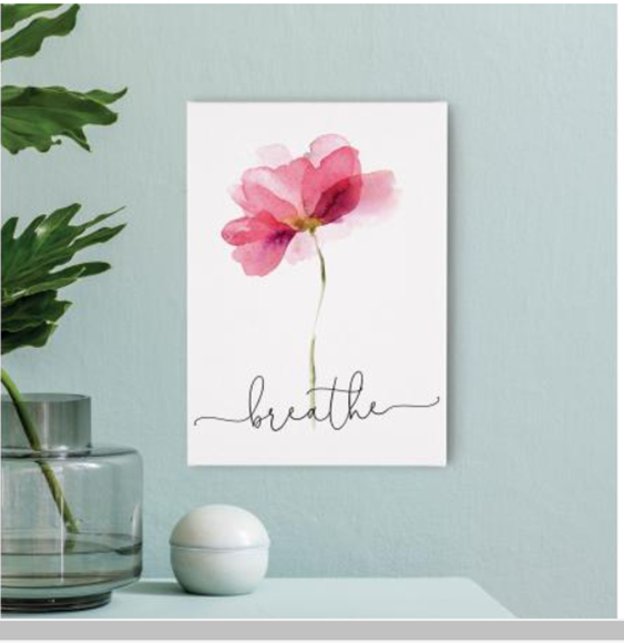 BREATHE Canvas Wall Sign